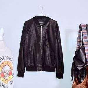 Forever 21 Men's Faux Leather Jacket.